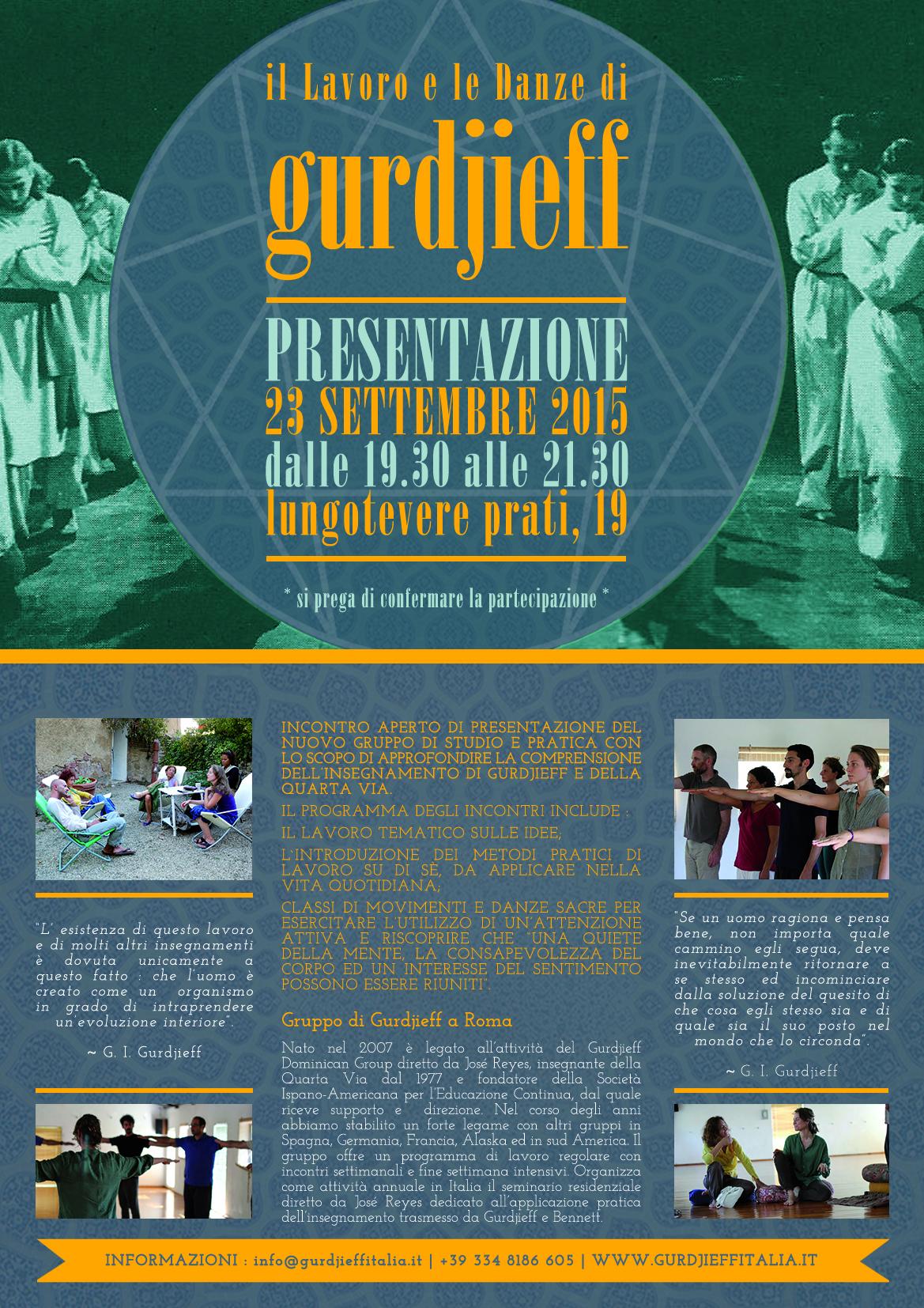 Locandina Presentazione Gruppo 2015