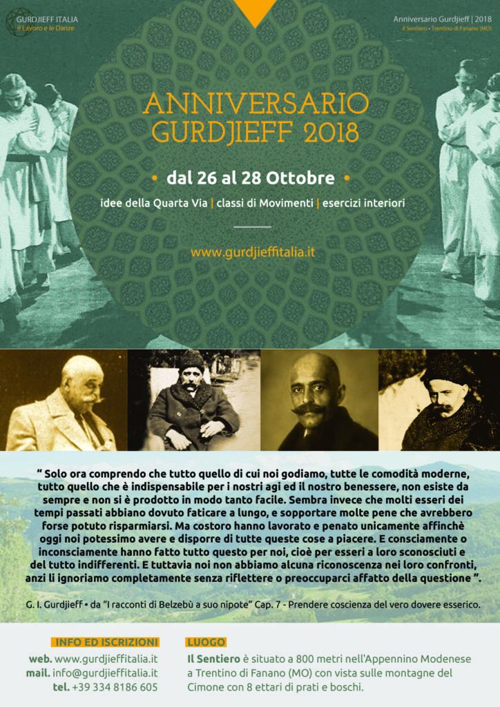 Anniversario Gurdjieff 2018