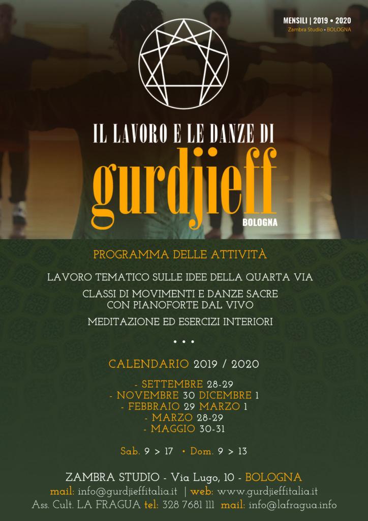 Gurdjieff Bologna - Calendario 2019-2020