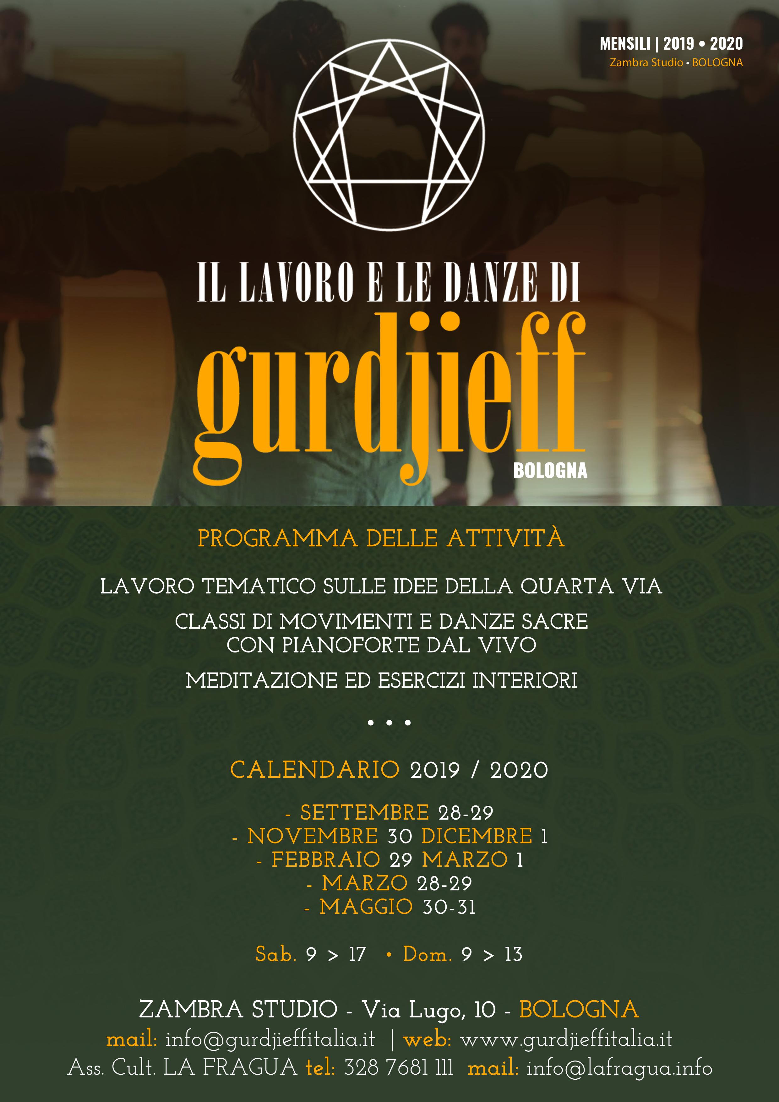 Calendario Progressivo 2020.Gurdjieff Italia Il Lavoro E Le Danze