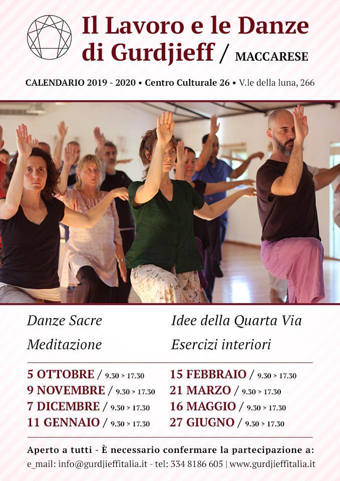Gurdjieff Maccarese - Calendario 2019-2020